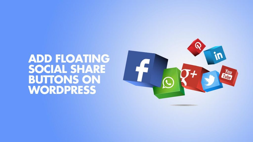 Add Floating Social Share Buttons