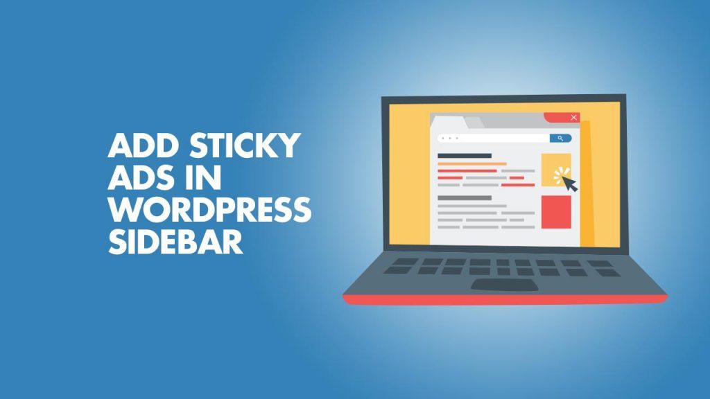 Add Sticky Ads In WordPress SideBar