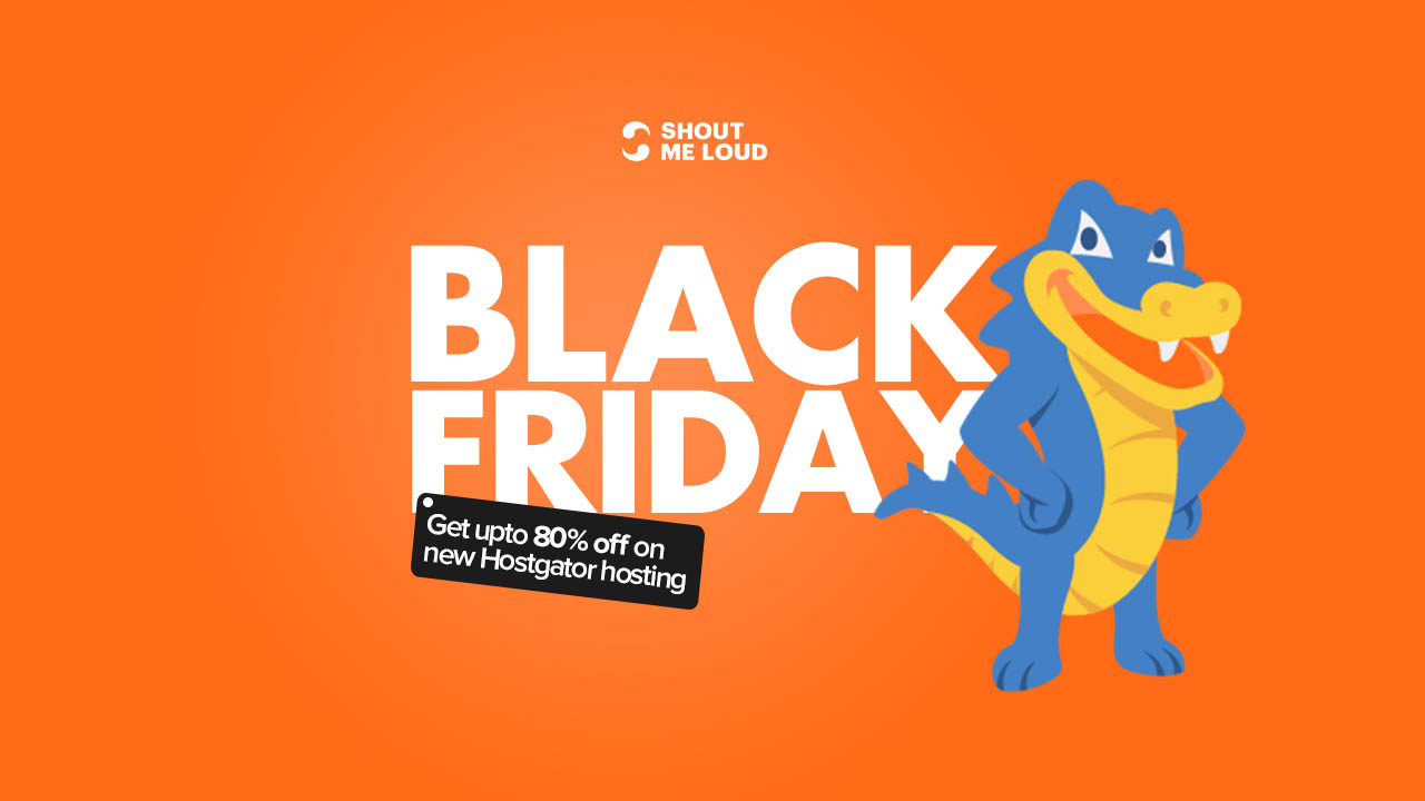 Black Friday hostgator Deals