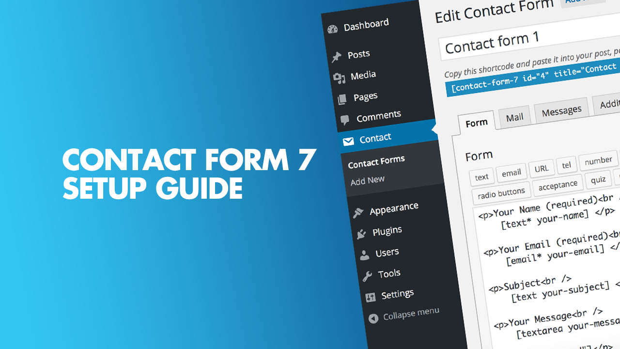 Contact form 7 Setup guide