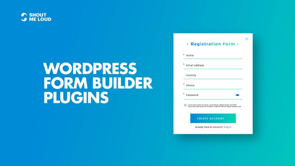 Form Builder Plugins For WordPress