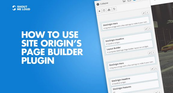 How to use Site Origin's Page builder