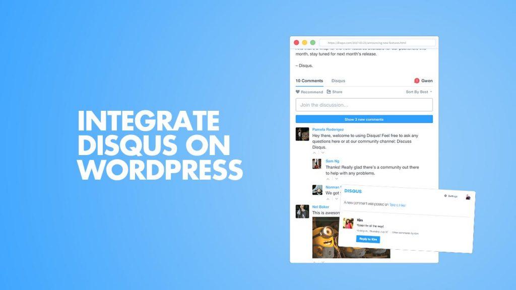 Integrate DISQUS on WordPress