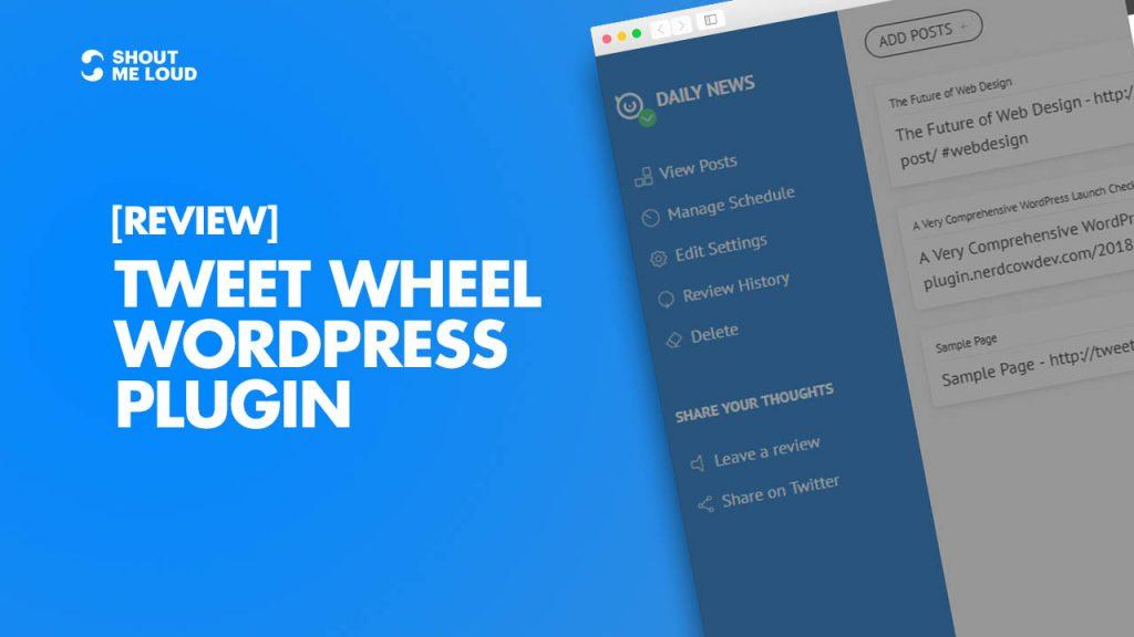 Tweet Wheel WordPress plugin Review