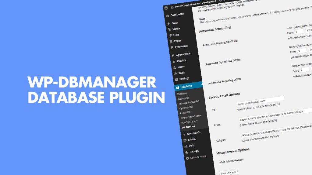 Use WP-DBManager WordPress Database Plugin