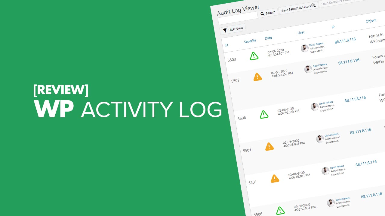 WP Activity Log Review