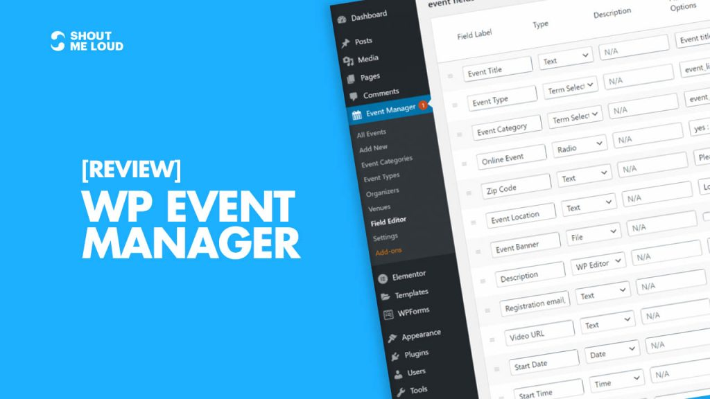 WP Event Manager Review