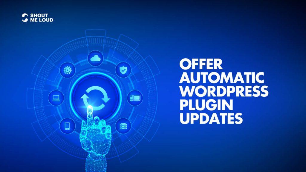 offer Automatic WordPress Plugin Updates