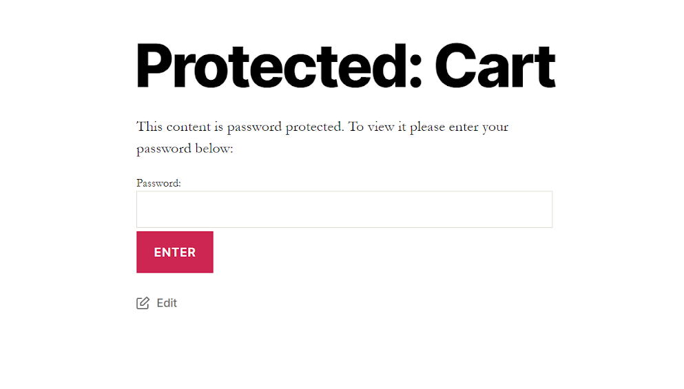 password protected page in wordpress