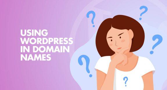 using WordPress Domain Names