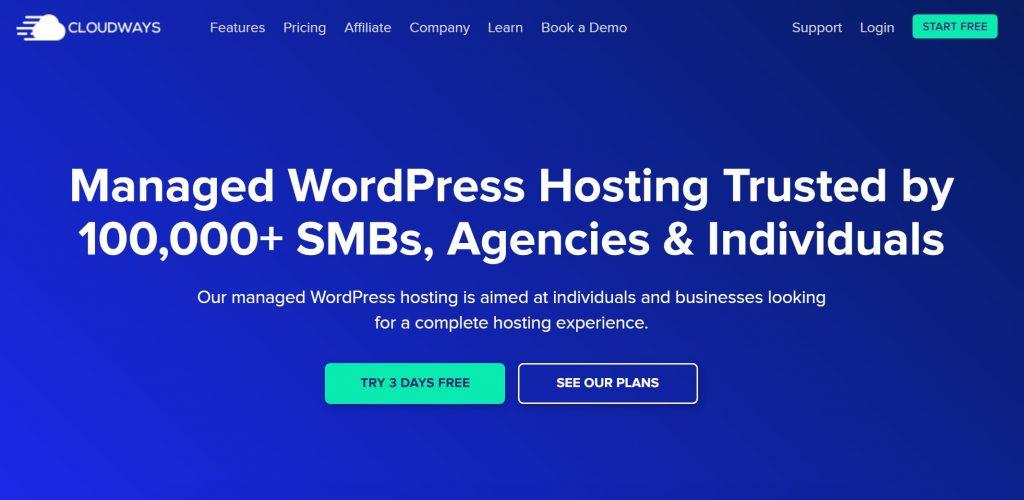 Cloudways cloud WordPress hosting