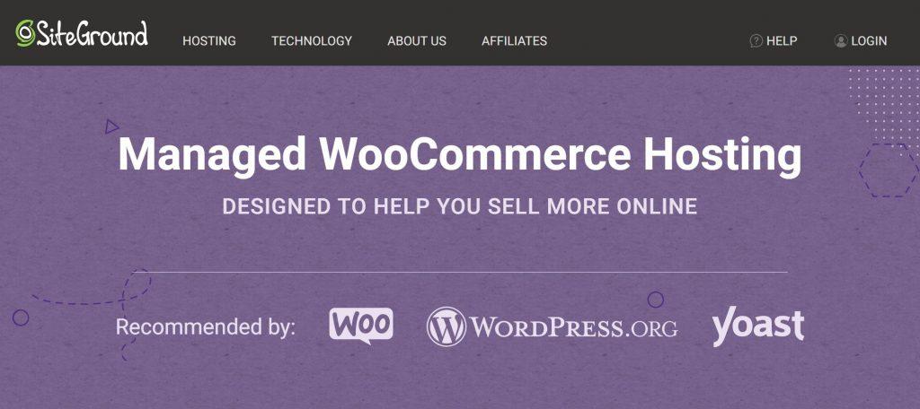 SiteGround WooCommerce hosting